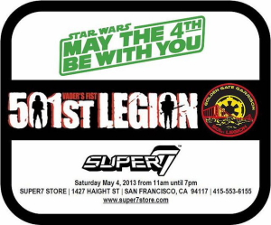 "Security for Super7's MAY THE FOURTH BE WITH YOU event will be provided by the GOLDEN GATE GARRISON of the 501st Legion. ""Real life"" Stormtroopers will be in-person, posing for […]"