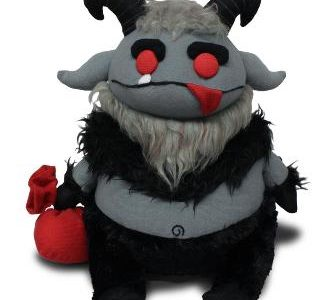 "Gruss Vom Krampus! Mezco presents folklore legend, plush Krampus! This oversized Krampus is 12″ tall from the tips of his ""devilish"" horns to the points of his cloven hooves. This […]"