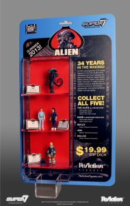 """In 1979, prototypes for 3 ¾"""" action figures for the ALIEN film were developed but never manufactured. Through our network of industry and collector contacts, Super7 has unearthed reference material […]"""