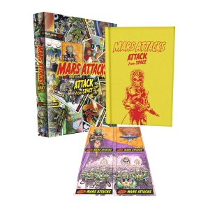 Hardcover to Include Hand-Drawn Sketch Cards from Top Talent IDW Limited announced plans for interstellar domination today, beginning with the Mars Attacks: Attack from Space Limited-Edition Hardcover (http://idwlimited.com/series/mars-attacks.html ). The […]