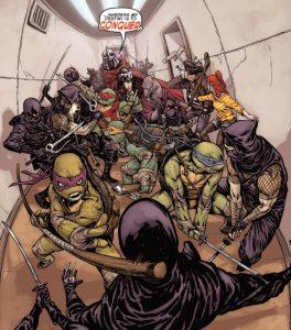 the-ninja-turtles-casey-jones-april-and-splinter-fight-shredder-and-the-foot