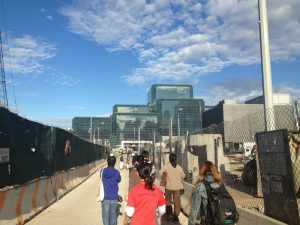 the walk up to the Jacob K Javits Convention Center