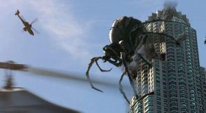 Spider on building