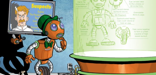 Peter and Bobby Timony have made names for themselves as comic book creators with their comics SIR ROLAND and NIGHT OWLS. Now they are sharing their new story DETECTOBOT. Check […]