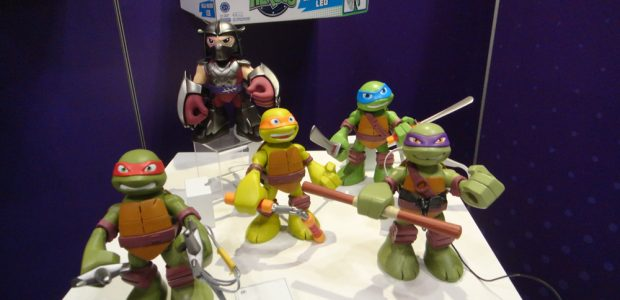 Playmates Toys had a media event at Toy Fair 2014 for Nickelodeon's Teenage Mutant Ninja Turtles. The line continues with more figures than you can shake a Sai at (you […]