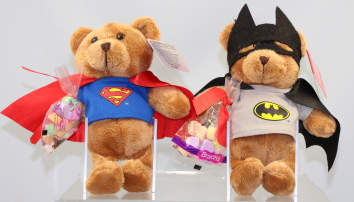 Target - Valentines DC Comics Super Hero Teddy Bears with Candy