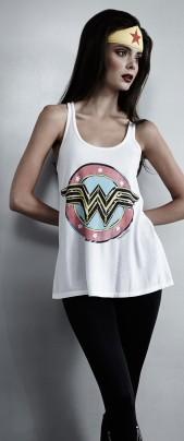 Lauren Moshi Wonder Woman Tank - white composed