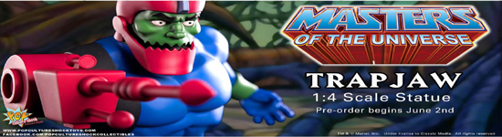 Pop Culture Shock Collectibles Presents MOTU Trapjaw 1:4th Statue Product Pre-order Launches June 2nd PCSC Exclusive Version Also Available An evil minion of Skeletor stands on the horizon, his evil […]