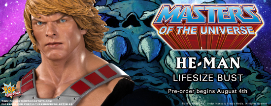 Pop Culture Shock Presents MOTU He-Man Life Sized Bust Product Pre-order Launches August 4th PCSC Exclusive Version Also Available Prince Adam of Eternia, son of King Randor and Queen […]