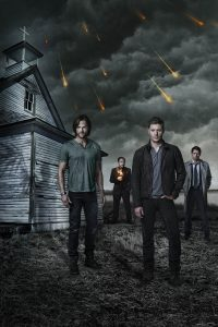 (L-R) Jared Padalecki, Mark A. Sheppard, Jensen Ackles and Misha Collins star in Warner Bros. Television's Supernatural, returning for its 10th season Tuesdays at 9/8c this fall on The CW. (Photo Credit: © Warner Bros. Entertainment Inc. All Rights Reserved.)