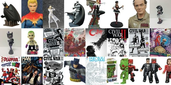 Diamond Comic Distributors is offering over 25 extremely limited PREVIEWS exclusives for this year's Comic-Con International: San Diego (July 20-24). The list includes several variants of Marvel's current hit, Civil […]