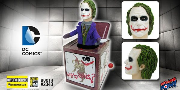"THE JOKER™ Pops Out as Convention Exclusive Jack-in-the-Box What is lurking inside this musical tin box? Crank the retro-styled Jack-in-the-Box handle to play ""Pop Goes the Weasel"" as you anticipate […]"