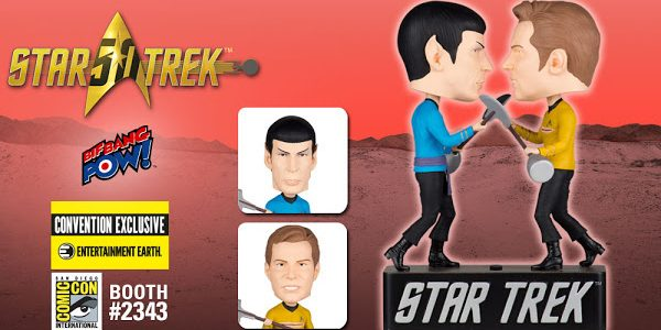 """Captain Kirk and Spock Duel to the Death as Exclusive """"Amok Time"""" Bobble Heads It's captain vs. first officer with Star Trek: The Original Series Amok Time Kirk vs. Spock […]"""