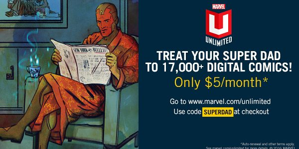 Welcome your Super Dad into the Marvel Universe by unlocking over 17,000 digital Marvel Comics today with an annual subscription to the recently named Best Entertainment Mobile Site & App […]