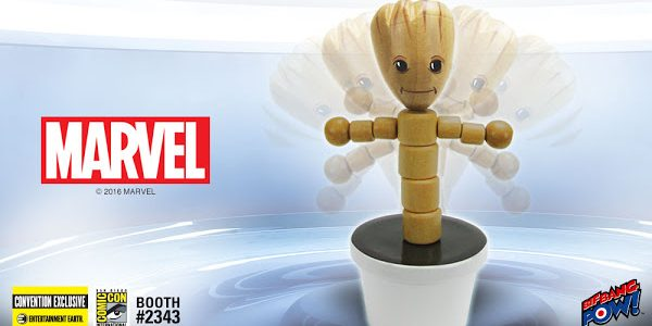 """""""I am Groot!"""" – New Convention Exclusive Wooden Push Puppet Get ready to dance the night away with the adorable Groot 4-Inch Wooden Push Puppet – Convention Exclusive from Bif […]"""