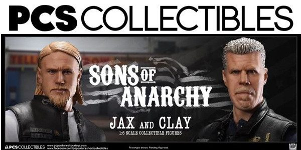 """Pop Culture Shock Collectibles Presents Sons of Anarchy Jax Teller & Clay Morrow 1:6 scale collectible figures Product Pre-Order Launches July 11th """"On the fringe, blood and bullets are the […]"""