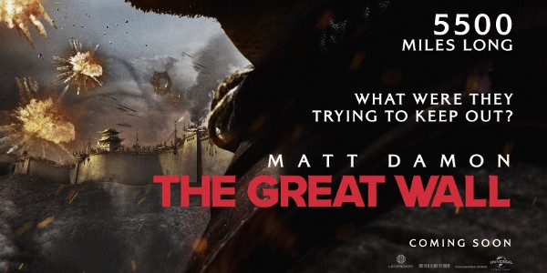 Universal Pictures has released the teaser trailer for The Great Wall. Starring global superstar Matt Damon and directed by one of the most breathtaking visual stylists of our time, Zhang […]