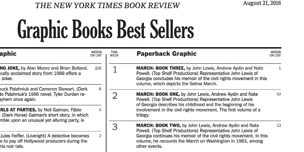 MARCH Dominates New York Times Bestseller List