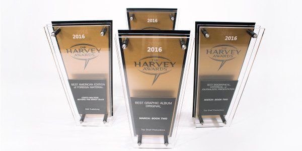 March: Book Two continues its winning streak at Baltimore Comic-Con 2016 Comic pros assembled on Saturdaynight to honor their peers at the 2016HarveyAwards, the only industry award both nominated and […]