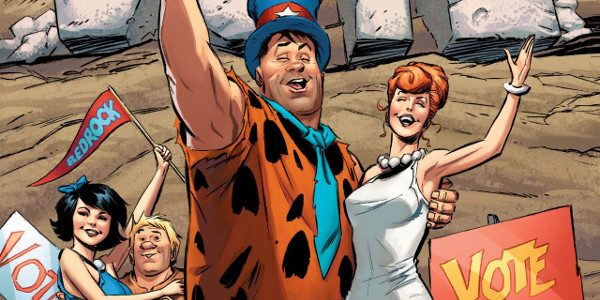 The Flintstones the quintessential modern stone-age family and never has this been more apt than in this recent run of comics. It's election time in Bedrock with both town and school […]
