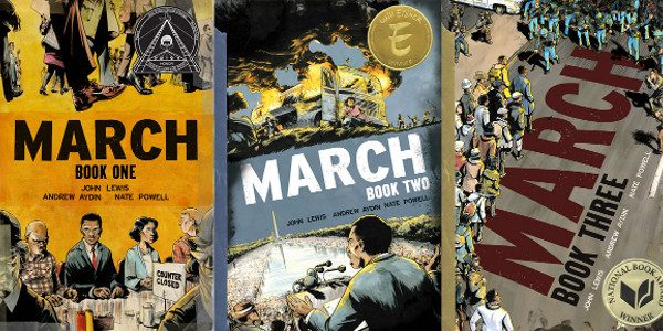 The #1 bestseller, about Congressman John Lewis and the Civil Rights Movement, is the first graphic novel recipient in the awards' 67-year history. Congressman John Lewis, Andrew Aydin, and Nate […]