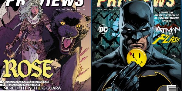 A young heroine, accompanied by her feline companion, battle sinister forces in Meredith Finch and Ig Guara's Rose for Image Comics The February edition of Diamond Comic Distributors' monthly PREVIEWS […]