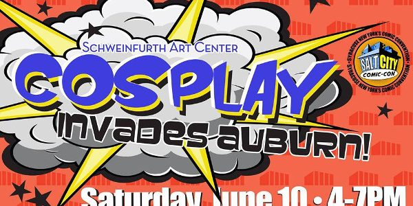 """Cosplay Invades Auburn! """" order_by=""""sortorder"""" order_direction=""""ASC"""" returns=""""included"""" maximum_entity_count=""""500″]Syracuse's Salt City Comic-Con and Cosplay by McCalls have teamed up with the Schweinfurth Art Center to host a cosplay event in Auburn, […]"""