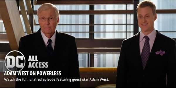 Adam West, Batman to a generation of TV fans, passed away last week. One of his final roles was a fittingly comic guest role on NBC's Powerless in an episode […]