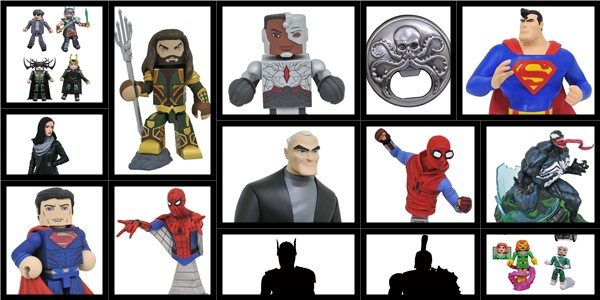 It's Marvel vs. DC in this month's Previews catalog! With a new bust, bank and Vinimates from DC, and new Minimates action figures, statues and bottle openers from Marvel, this […]
