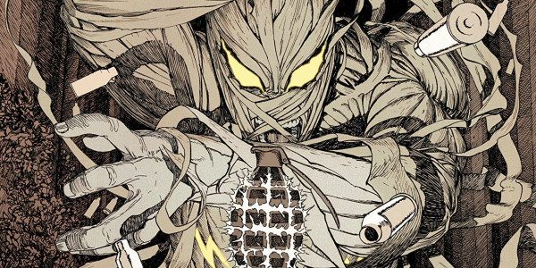 Wow, what a brilliant comic, explosions, tomb raiding, and monsters. The artwork in this issue is amazing as well, the dark imposing images of the tomb contrast brilliantly with the […]