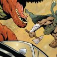 Turok #3, from Dynamite, certainly ramps up the dino/sci-fi vibe.