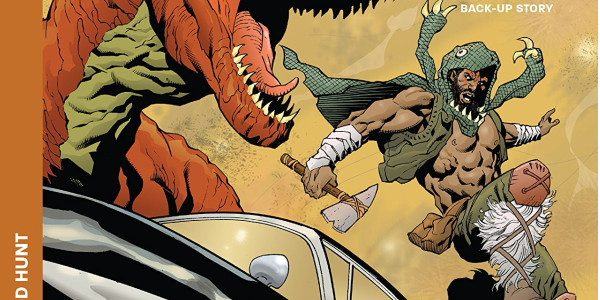 Turok #3, from Dynamite, certainly ramps up the dino/sci-fi vibe. The Turok world is the Lost Valley, a zone where prehistoric beasts roam but are occasionally joined by elements from […]