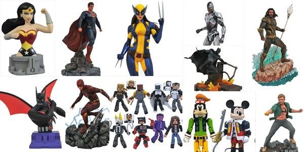 It's November, which means the new Previews catalog is in comic shops! With several big blockbusters on the horizon, Diamond Select Toys is offering a dozen new items that will […]