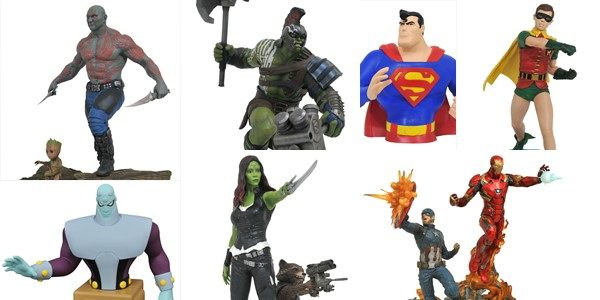 It's a super-heroic week at your local comic shop! Flying out of the Diamond Select Toys warehouse, six new superhero products are shipping this week, and each one is a […]