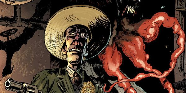 From Dark Horse, Vinegar Teeth #1 screeches in from left field, spins around in place, leaving puzzlement and eye-popping amazement all around. The first issue introduces us to the detectives, […]