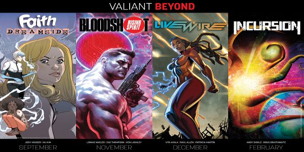 """As first revealed at Comic Book Resources, Valiant is proud to announce """"BEYOND"""" – a new wave of groundbreaking series that will carry the critically acclaimed publisher onward toward 2019! […]"""