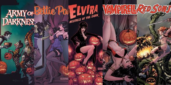 Standalone issues of Vampirella, Army of Darkness, Bettie Page, Elvira and Red Sonja will hit stands October 24th! No tricks, only treats – Dynamite Entertainment is taking Halloween by storm […]
