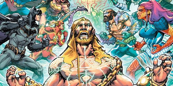 Leaping from the pages of the Justice League title, The Ocean Lords have begun their raid on Earth! With Aquaman held captive by the Ocean Lords of the cosmos the […]