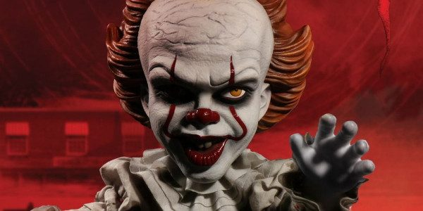"Pennywise The Dancing Clown from IT (2017) has again emerged from the sewer of Derry! The M.D.S. Mega Scale Talking Pennywise stands at a forbidding 15"" tall, is dressed in […]"
