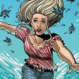It's spooky when you float underwater, near death. It's The Girl In The Bay, from Dark Horse's Berger imprint.