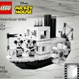 The LEGO Ideas Steamboat Willie set will be available April 1.