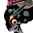 Issue #10 of Black Hammer Age of Doom starts off with an attention-catching cover, featuring several eyeballs, orbs, and orbits intended to catch, well, your eye.