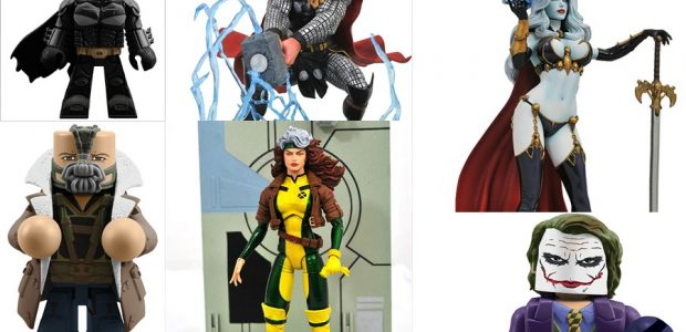 This week is a toy-tastic week at comic shops, as Diamond Select Toys unleashes six new items, from three comic-book universes! From DC's Dark Knight Trilogy, three new Vinimates! From […]