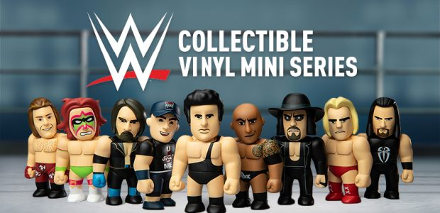 Step into the ring with the new WWE 3-inch Vinyl Mini Series Available Now at Kidrobot.com We're bouncing off the ropes for this new mini series! And if we were […]