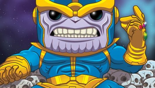 Colossal 6″ PREVIEWS Exclusive Thanos Deluxe Pop! Snaps into Comic Shops Perched on a pile of skulls, the mighty menacing Thanos is posed to snap and destroy half of the […]