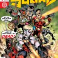 """BY THE END OF THIS ISSUE…HALF OF THIS TEAM'LL BE DEAD!"" –Harley Quinn on the cover of Suicide Squad #1"