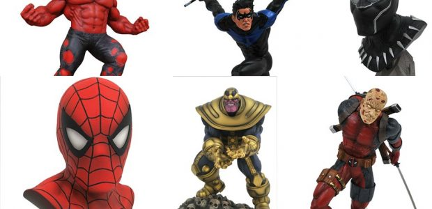 Six new collectibles are shipping to comic shops this week, and Diamond Select Toys is fully responsible! Formerly exclusive Gallery Diorama PVCs of Nightwing, Deadpool, Thanos and Red Hulk are […]
