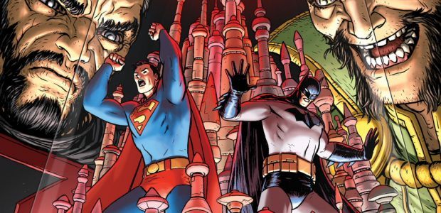 """General Zod Has Returned to Earth—and His New Target is Ra's al Ghul! In the aftermath of """"The Infected,""""Batman Universeartist Nick Derington joins the series as Batman and Superman create […]"""