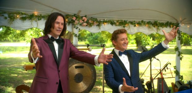 """Orion Pictureshas released a new image fromBILL & TED FACE THE MUSIC,which shows William """"Bill"""" S. Preston Esq.(Alex Winter)and Theodore """"Ted"""" Logan(Keanu Reeves) looking sharp in colorful suits. The stakes […]"""