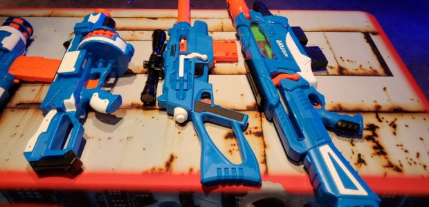 Buzz Bee Toys shows off the next round of dart warfare weapons Buzz Bee had some really impressive dart guns. Some of them are pump action. Some a bolt action. […]